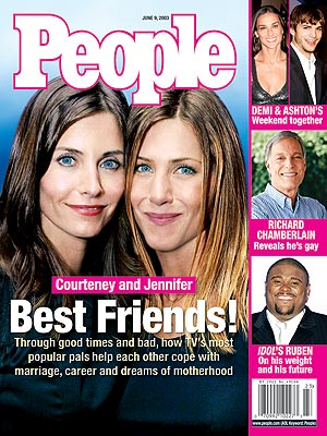 photo | Kids & Family Life, Marriage, Friends, Courteney Cox Cover, Jennifer Aniston Cover, Coping and Overcoming Illness, TV on Covers, Ashton Kutcher, Courteney Cox, Demi Moore, Jennifer Aniston, Richard Chamberlain, Ruben Studdard