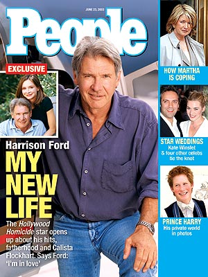 photo | Couples, Kids & Family Life, Hollywood Homicide, Celebrity Love Stories, Harrison Ford Cover, Heartthrobs, Calista Flockhart, Harrison Ford, Kate Winslet, Martha Stewart, Prince Harry, Sam Mendes