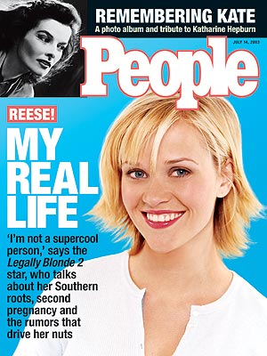 photo   Kids & Family Life, Legally Blonde 2: Red, White & Blonde, Dark Side of Fame, Reese Witherspoon Cover, Young Hollywood Moms, Katharine Hepburn, Reese Witherspoon