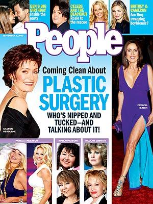 photo | Plastic Surgery, Ben Affleck, Britney Spears, Cameron Diaz, Jennifer Lopez, Melanie Griffith, Pamela Anderson, Patricia Heaton, Rosie O'Donnell, Sharon Osbourne