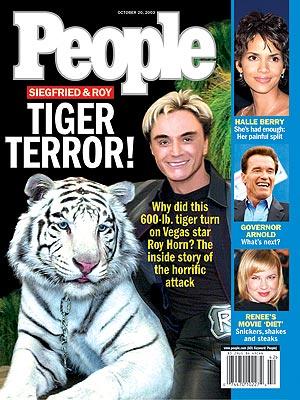 photo | Non-Humans, Roy Uwehudwigltorn Cover, Arnold Schwarzenegger, Halle Berry, Renee Zellweger, Roy Horn