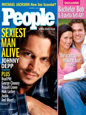 photo | Johnny Depp Cover, Sexiest Man Alive, Bob Guiney, Brad Pitt, Estella Gardinier, George Clooney, Johnny Depp, Justin Timberlake, Nick Lachey, Russell Crowe