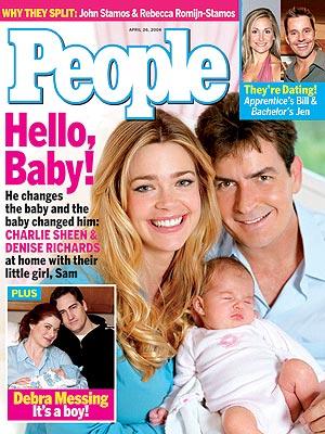 photo | Babies, Charlie Sheen Cover, Denise Richards Cover, Bill Rancic, Charlie Sheen, Debra Messing, Denise Richards, Jen Schefft