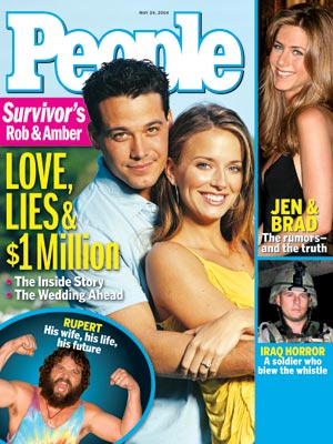 photo | Reality TV, Survivor, Amber Brkich Cover, Rob Mariano Cover, Amber Brkich, Jennifer Aniston, Rob Mariano, Rupert Boneham