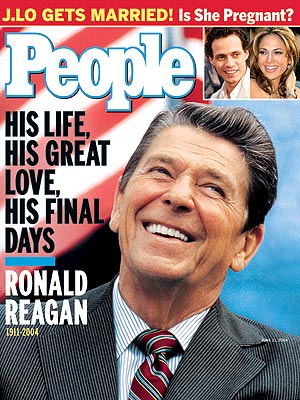 photo | Tributes, Presidents and First Ladies, Ronald Reagan Cover, The Reagans, Jennifer Lopez, Marc Anthony, Ronald Reagan