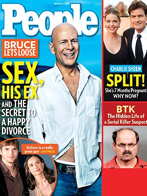 photo | Bald and [Mostly] Beautiful, Bruce Willis Cover, Fabulous Over Forty, Ashton Kutcher, Bruce Willis, Charlie Sheen, Demi Moore, Denise Richards