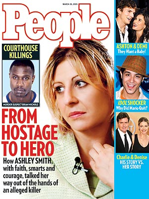 photo | Heroes Among Us, Murder, Near Death Experiences, Gripping News Stories, Coping and Overcoming Illness, True Crime, Real People Stories, Ashley Smith, Ashton Kutcher, Charlie Sheen, Demi Moore, Mario Vazquez