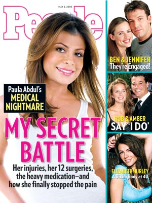 photo | Dark Secrets, Health, Medicine, American Idol, Battling Illnesses, Paula Abdul Cover, Amber Brkich, Ben Affleck, Elizabeth Hurley, Jennifer Garner, Paula Abdul, Rob Mariano
