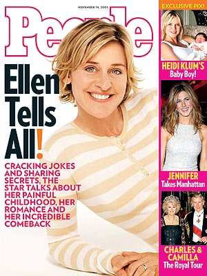 photo | Coming Out Stories, The Ellen DeGeneres Show, Ellen Degeneres Cover, Famous Comedians, Camilla Parker Bowles, Ellen DeGeneres, Heidi Klum, Jennifer Aniston, Prince Charles