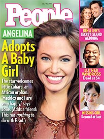 Angelina Adopts a Girl: And Baby Makes Three