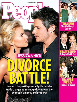 photo | Divorced, 2000, Jessica Simpson Cover, Nasty Breakups and Divorces, Nick Lachey Cover, Chad Lowe, Hilary Swank, Jessica Simpson, Katie Holmes, Lisa Marie Presley, Michael Lockwood, Nick Lachey, Tom Cruise