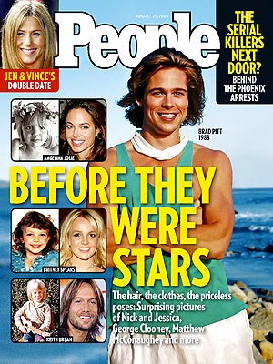 photo | Before They Were Stars, Brad Pitt Cover, Angelina Jolie, Brad Pitt, Britney Spears, Jennifer Aniston, Keith Urban