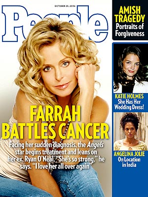 photo | Cancer, 2000, Farrah Fawcett Cover, Angelina Jolie, Farrah Fawcett, Katie Holmes