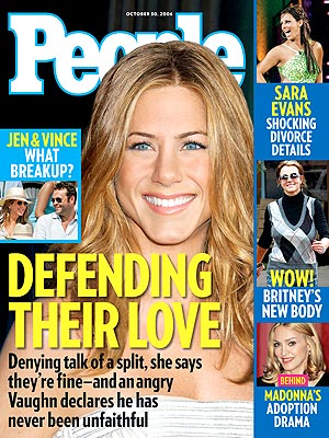 photo | Couples, Jennifer Aniston Cover, Britney Spears, Jennifer Aniston, Madonna, Sara Evans, Vince Vaughn