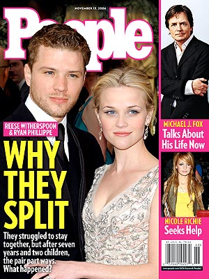 photo | Divorced, 2000, Reese Witherspoon Cover, Michael J. Fox, Nicole Richie, Reese Witherspoon, Ryan Phillippe