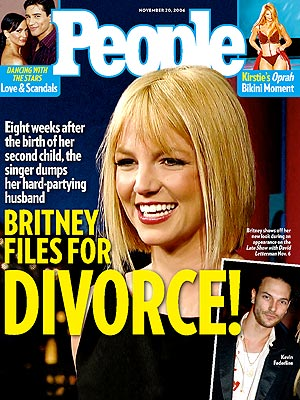 photo | Divorced, Britney Spears Cover, Nasty Breakups and Divorces, Britney Spears, Karina Smirnoff, Kevin Federline, Kirstie Alley, Mario Lopez