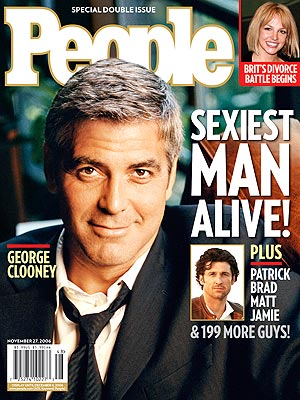 photo | George Clooney Cover, Sexiest Man Alive, Britney Spears, George Clooney, Patrick Dempsey