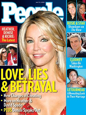 photo | Heather Locklear Cover, Nasty Breakups and Divorces, Denise Richards, George Clooney, Heather Locklear, Mary Kay Letourneau, Richie Sambora, Rosie O'Donnell, Star Jones