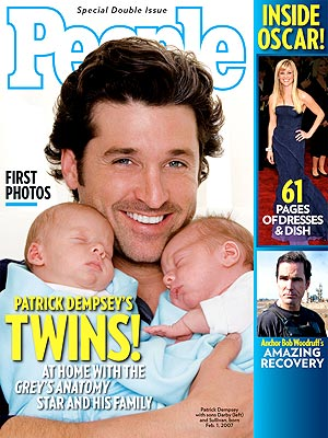 photo | Babies, Twins, Hot Dads, Patrick Dempsey Cover, Bob Woodruff, Darby Dempsey, Patrick Dempsey, Reese Witherspoon, Sullivan Dempsey