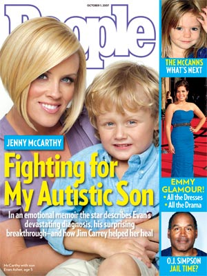 photo | Couples, Kids & Family Life, Autism, Health, Battling Illnesses, Jenny McCarthy Cover, Coping and Overcoming Illness, Young Hollywood Moms, America Ferrera, Jenny McCarthy, Jim Carrey, Madeleine McCann, O.J. Simpson