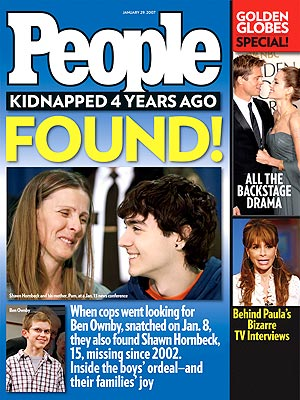 photo | Kidnapping, Kids & Family Life, Gripping News Stories, Real People Stories, Angelina Jolie, Ben Ownby, Brad Pitt, Paula Abdul, Shawn Hornbeck