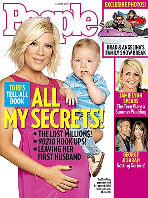photo | Babies, Pregnancy, Family Drama, Tori Spelling Cover, Brad Pitt, George Clooney, Jamie Lynn Spears, Tori Spelling