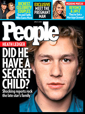  photo | Scandals & Feuds, Beyonce Knowles, Faith Hill, Heath Ledger, Tim McGraw