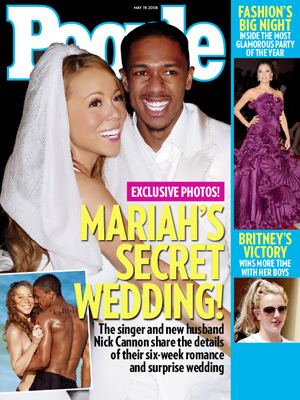 photo | Secret Weddings, 2000, Celebrity Wedding Albums, Mariah Carey Cover, Britney Spears, Eva Longoria, Mariah Carey, Nick Cannon