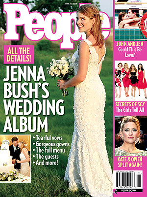 photo | Celebrity Wedding Albums, Jenna Bush Cover, Cynthia Nixon, Jenna Bush, Jennifer Aniston, John Mayer, Kate Hudson, Kim Cattrall, Kristin Davis, Sarah Jessica Parker