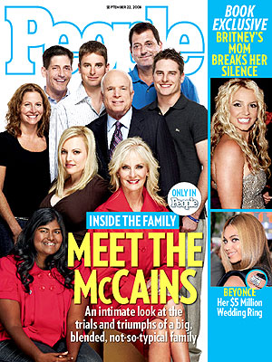 photo | 2008 Presidential Elections, Beyonce Knowles, Britney Spears, John McCain, Politicians and Their Families