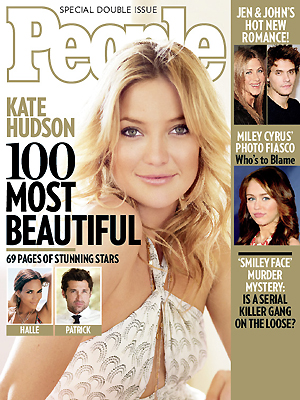 photo | Kate Hudson Cover, Most Beautiful on Covers, Halle Berry, Jennifer Aniston, John Mayer, Kate Hudson, Miley Cyrus