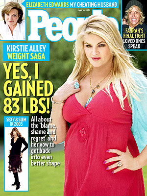 photo | Kirstie Alley Cover, Elizabeth Edwards, Farrah Fawcett, Kirstie Alley