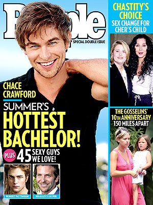  photo | Hottest Bachelors on Covers, Bradley Cooper, Chace Crawford, Chastity Bono, Cher, Kate Gosselin, Robert Pattinson