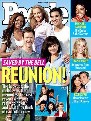 photo | Saved by the Bell, TV Milestones, Tiffani Thiessen, Lark Voorhies, LeAnn Rimes, Mario Lopez, Mark-Paul Gosselaar, Michael Jackson, Tiffani Thiessen