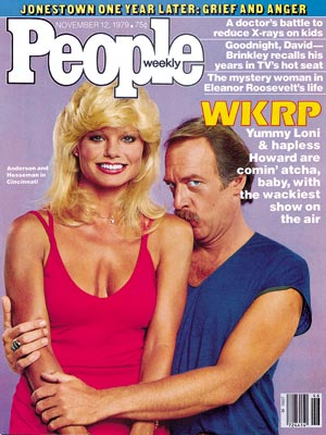 photo | CBS, WKRP in Cincinnati, 1970, Howard Hesseman Cpver, Loni Anderson Cover, TV Milestones, TV on Covers, Howard Hesseman, Loni Anderson
