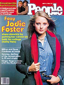 Gallery images and information: Jodie Foster 1980