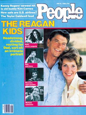 photo | Kids & Family Life, Nancy Reagan Cover, Presidents and First Ladies, Ronald Reagan Cover, The Reagans, Maureen Reagan, Michael Reagan, Nancy Reagan, Ron Reagan, Ronald Reagan