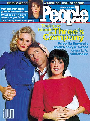  photo | Three's Company, John Ritter Cover, Joyce DeWitt Cover, Priscilla Barnes Cover, TV on Covers, Three's Company, John Ritter, Joyce DeWitt, Natalie Wood, Priscilla Barnes