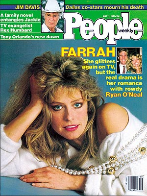 photo | Farrah Fawcett Cover, Farrah Fawcett, Jim Davis, Ryan O'Neal