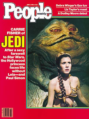 photo | Star Wars: Episode VI - Return of the Jedi, Star Wars, 1980, Carrie Fisher Cover, Jabba the Hut Cover, Movies On Covers, Non-Humans, Carrie Fisher, Jabba the Hut, Paul Simon