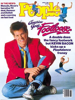 photo | Trends, Footloose, 1980, Kevin Bacon Cover, Movies On Covers, Kevin Bacon