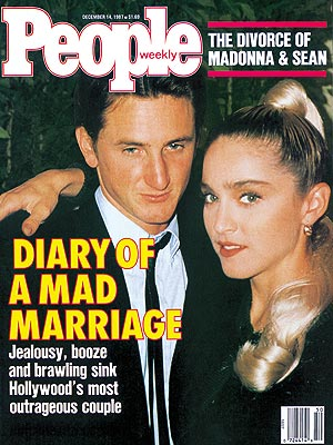 photo | 1980, 80s Music, Unlikely Romances, Madonna Cover, Nasty Breakups and Divorces, Sean Penn Cover, Madonna, Sean Penn
