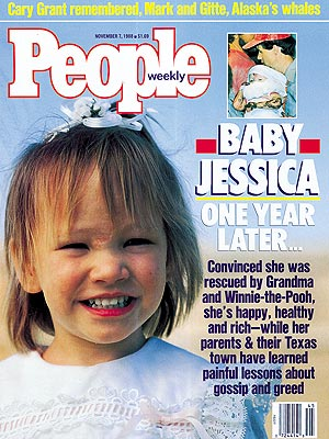 photo | Baby Jessica Cover, Gripping News Stories, Real People Stories, Baby Jessica