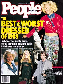 Magazine cover from 1989 showing photos of men and women in contemporary styles.