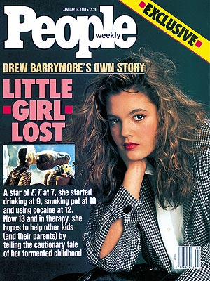 photo | Substance Abuse, Little Girl Lost, E.T. the Extra-Terrestrial, 1980, Drew Barrymore Cover, Growing Up on the Cover, Drew Barrymore