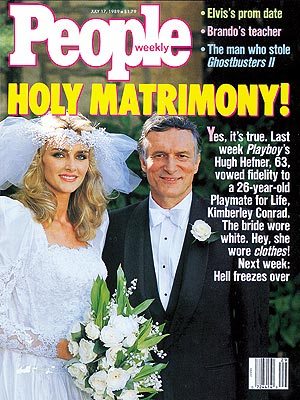 photo | Weddings, Playboy, Celebrity Wedding Albums, Hugh Hefner Cover, Kimberley Conrad Cover, Too Crazy to Believe, Hugh Hefner, Kimberley Conrad
