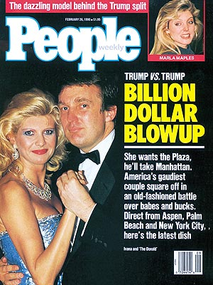 photo | Divorced, Donald Trump Cover, Ivana Trump Cover, Bills, Bills, Bills, Nasty Breakups and Divorces, Donald Trump, Ivana Trump, Marla Maples