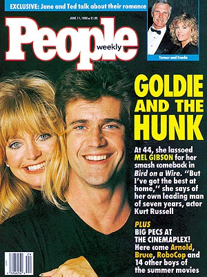 photo | Comebacks, Goldie Hawn Cover, Mel Gibson Cover, Goldie Hawn, Jane Fonda, Mel Gibson, Ted Turner