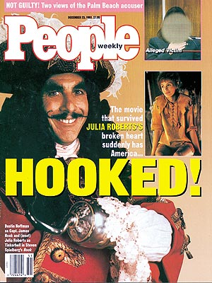 photo | Hook, Dustin Hoffman Cover, Movies On Covers, Dustin Hoffman, Julia Roberts