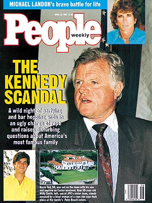 photo | Scandals & Feuds, Sex Scandals, Sexual Abuse, Ted Kennedy Cover, The Kennedys, Michael Landon, Ted Kennedy, William Kennedy Smith